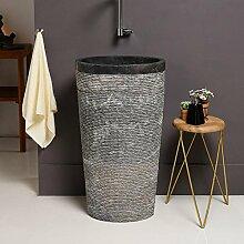 wohnfreuden Marmor Stand-Waschbecken 50x35x90 cm