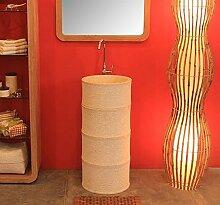 WOHNFREUDEN Marmor Stand-Waschbecken BAMBOO