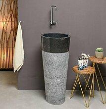 WOHNFREUDEN Marmor Stand-Waschbecken PEDESTAL 40 x