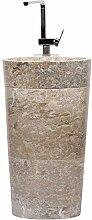 wohnfreuden Marmor Stand-Waschbecken Pedestal