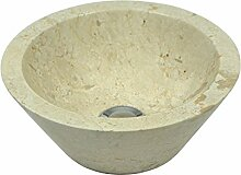 wohnfreuden Marmor Waschbecken 30 cm ✓ klein