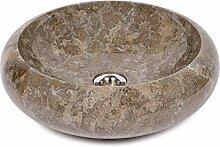 wohnfreuden Marmor Waschbecken 40 cm ✓ klein