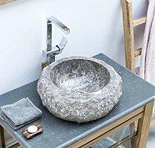 wohnfreuden Marmor Waschbecken 45 cm ✓ klein