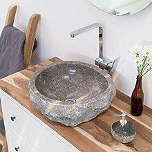wohnfreuden Marmor Waschbecken 50 cm ✓ groß