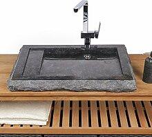 WOHNFREUDEN Marmor Waschbecken 70 cm ✓ groß
