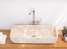 wohnfreuden Marmor Waschbecken 70 x 40 cm ✓ gros