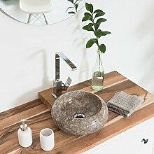 wohnfreuden Marmor Waschbecken ASBAK Mini 30 cm