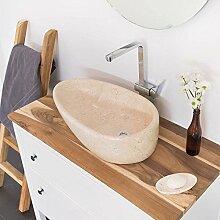 wohnfreuden Marmor Waschbecken Tropfen 60 cm ✓