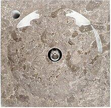 wohnfreuden Marmor Waschbecken TUMBA 45x45x8 cm