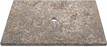 WOHNFREUDEN Marmor Waschtisch-platte Kathrin 80x55x3 cm grau
