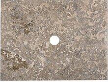 WOHNFREUDEN Marmor Waschtisch-platte zu Susi Teak Waschtisch grau 60x45x3 cm