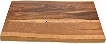 WOHNFREUDEN Massivholz Waschtischplatte für Naturstein Waschbecken ✓ Holz-Platte für Waschbecken ✓ aus echtem Suarholz ✓ Unterbau Gr. M 80x50x4cm ✓versandkostenfrei