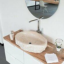 wohnfreuden Natur-stein Marmor Aufsatz-waschbecken