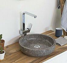 wohnfreuden Naturstein Marmor Aufsatz-Waschbecken
