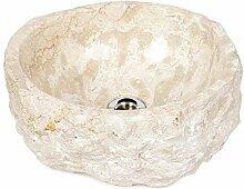 wohnfreuden Naturstein Marmor - Waschbecken ca 35