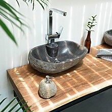 Wohnfreuden Naturstein-Waschbecken 50 cm Oval