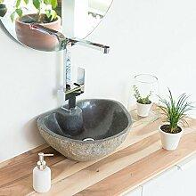 wohnfreuden Naturstein Waschbecken Waschtisch 40
