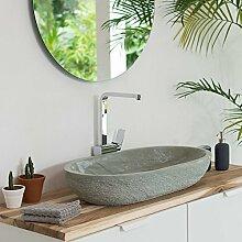 wohnfreuden Sandstein Aufsatz-Waschbecken