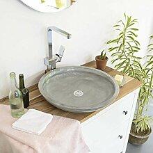 wohnfreuden Sandstein Aufsatz-Waschbecken Lemper