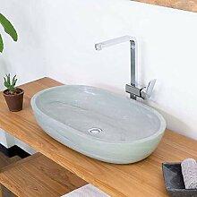 wohnfreuden Sandstein Aufsatz-Waschbecken MARA