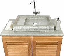 wohnfreuden Sandstein Aufsatz-Waschbecken MO 14