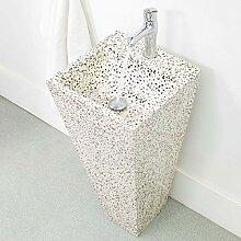 wohnfreuden Terrazzo Waschtischsäule 40 x 90 cm