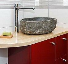 wohnfreuden Waschbecken aus Stein natürlich ca 40