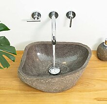 wohnfreuden Waschbecken aus Stein natürlich ca.