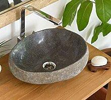 wohnfreuden Waschbecken aus Stein natürlich mit