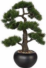 wohnfuehlidee Kunstpflanze Bonsai Kiefer grün,