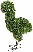 wohnfuehlidee Kunstpflanze Buchsbaum Vogel grün,
