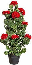 wohnfuehlidee Kunstpflanze Geranie Stehend, Farbe
