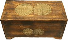 Wohnkult Holz Truhe Schatztruhe 50 cm Kiste aus