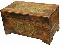 Wohnkult Holz Truhe Schatztruhe 60 cm Kiste aus