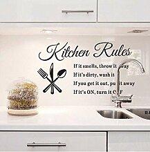 Wohnkultur Abnehmbare Wandaufkleber Küchenregeln