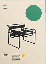 Wohnkultur Leinwand Poster Wassily Stuhl Marcel