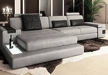 Wohnlandschaft Leder HAMBURG III - Sofa L-Form -