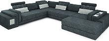 Wohnlandschaft XXL HANNOVER - Stoffsofa Couch