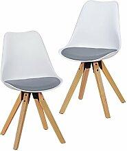 Wohnling 2er Set Retro Esszimmer-Stuhl LIMA ohne