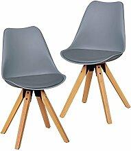 Wohnling 2er Set Retro Esszimmer-Stuhl ohne