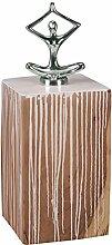 Wohnling Beistelltisch DOLVI Vollholz Akazie Farbverlauf Wohnzimmertisch Retro-Stil Massivholztisch Unikat Design Farbklecks Couchtisch Massiv-Holz Natur-Produkt Wohnzimmer-Möbel farbig Echtholz weiß