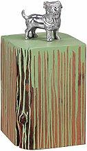 Wohnling Beistelltisch Dolvi Vollholz Akazie Farbverlauf Wohnzimmertisch, Massivholztisch Unikat Design Farbklecks Couchtisch Massiv-Holz Natur-Produkt Wohnzimmer-Möbel farbig Echtholz, grün