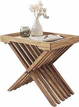 WOHNLING Beistelltisch Massivholz Akazie Design