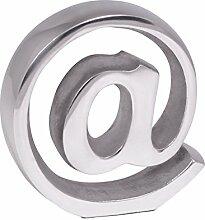 Wohnling Buchstütze @ Zeichen Design 15 cm Aluminium-Dekoration Buchständer modern Katalogstütze Buchhalterung elegante Zeitschriftenhalterung stylische Aluminiumfigur praktische Zeitungsstütze silbern
