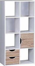 Wohnling Bücherregal 60 x 120 x 29 cm Sonoma