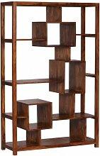 WOHNLING Bücherregal Massiv-Holz Sheesham 115 x
