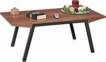 Wohnling Couch-Tisch Berry MDF Holz, Moderner Wohnzimmertisch in dunkel-braun, Design Holz-Tisch Loungetisch 120x60 cm groß, Wohnzimmer-Möbel mit Metallgestell, walnuss anthrazi