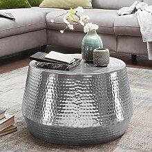 Wohnling Couchtisch Mahesh 60x36x60 cm Aluminium
