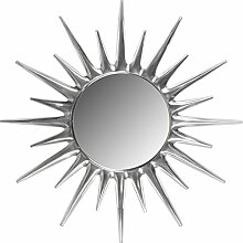 Wohnling Deko Wandspiegel Sunrise aus Aluminium Wanddekoration silber