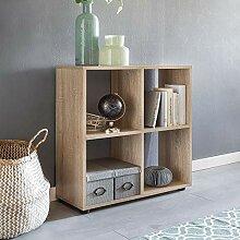Wohnling Design Bücherregal Zara mit 4 Fächern